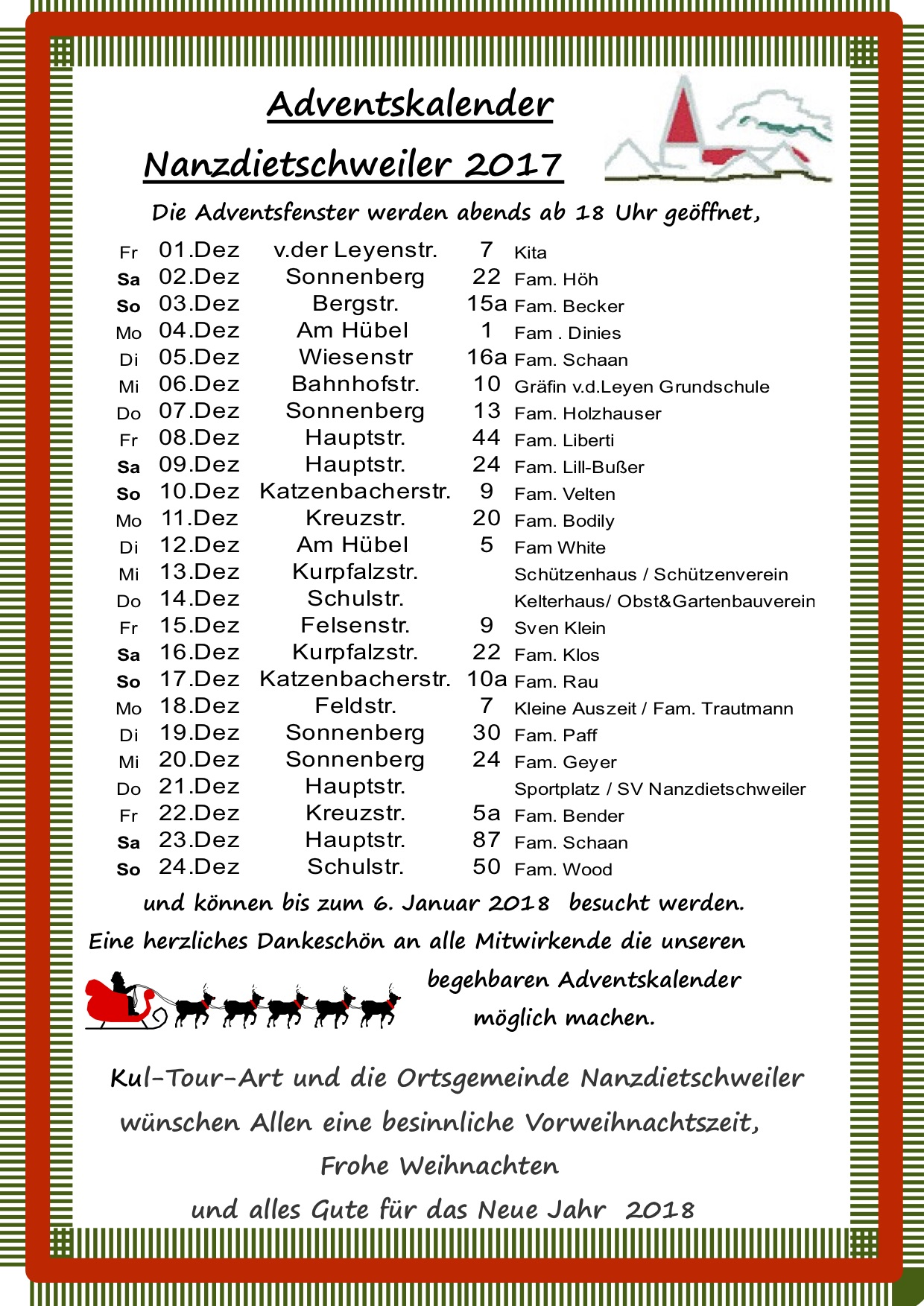 Adventsfensterkalender